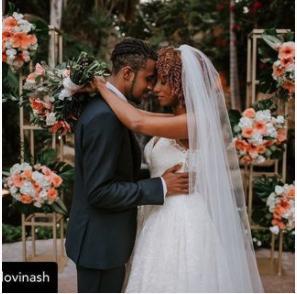 image of a black wedding couple