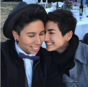 image of a queer couple smiling